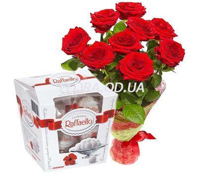 """""""9 роз и Raffaello"""" в интернет-магазине цветов flora.od.ua"""