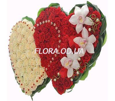 """Big heart of roses"" in the online flower shop flora.od.ua"