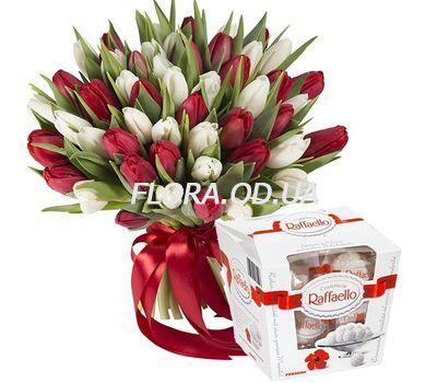 """""""Великий букет з 51 тюльпана"""" в интернет-магазине цветов flora.od.ua"""