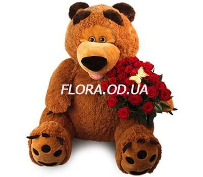 """Big teddy bear with roses"" in the online flower shop flora.od.ua"
