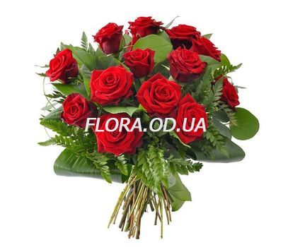 """Bouquet of 15 red roses"" in the online flower shop flora.od.ua"
