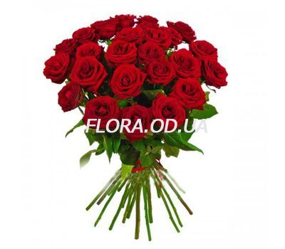 """Букет з 21 червоної троянди"" в интернет-магазине цветов flora.od.ua"