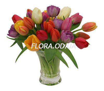 """""""Букет из 29 разноцветных тюльпанов"""" в интернет-магазине цветов flora.od.ua"""