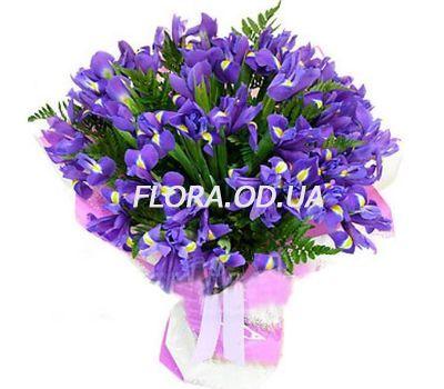 """""""Букет з 35 синіх ірисів"""" в интернет-магазине цветов flora.od.ua"""