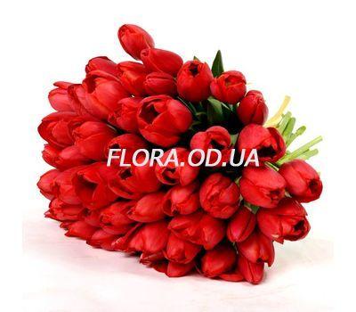 """""""Букет из 45 красных тюльпанов"""" в интернет-магазине цветов flora.od.ua"""