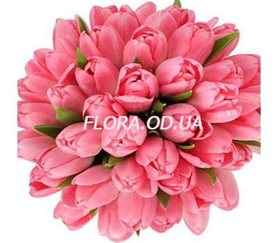 """Bouquet of 45 pink tulips"" in the online flower shop flora.od.ua"