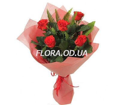 """Bouquet of 5 red roses"" in the online flower shop flora.od.ua"