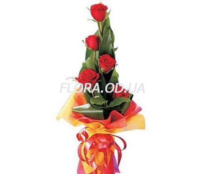 """""""Букет з 5 троянд"""" в интернет-магазине цветов flora.od.ua"""