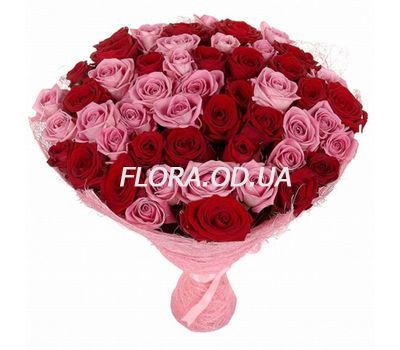 """Bouquet of 51 roses 60 cm"" in the online flower shop flora.od.ua"