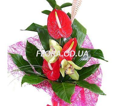 """""""Букет из антуриума и орхидей"""" в интернет-магазине цветов flora.od.ua"""