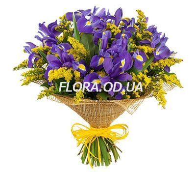 """""""Букет з ірисів і мімози"""" в интернет-магазине цветов flora.od.ua"""
