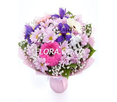 """""""Bouquet with irises"""" in the online flower shop flora.od.ua"""