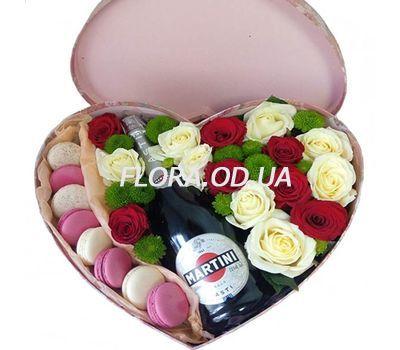 """""""Цветы и макароны в коробке купить"""" в интернет-магазине цветов flora.od.ua"""