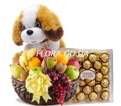 """Fruit, dog, candy"" in the online flower shop flora.od.ua"