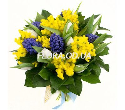 """Hyacinths and mimosa"" in the online flower shop flora.od.ua"
