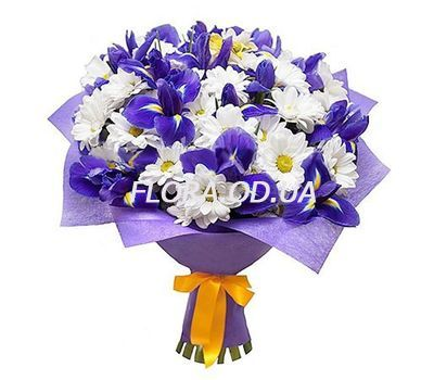 """""""Chrysanthemums and irises"""" in the online flower shop flora.od.ua"""