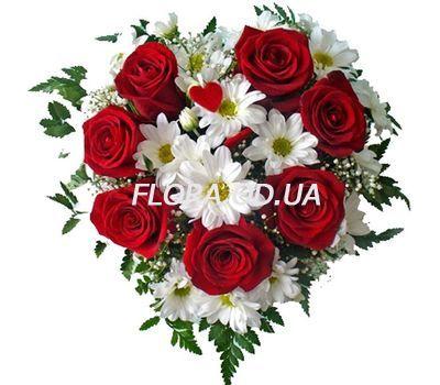 """""""Композиція з троянд та хризантем"""" в интернет-магазине цветов flora.od.ua"""