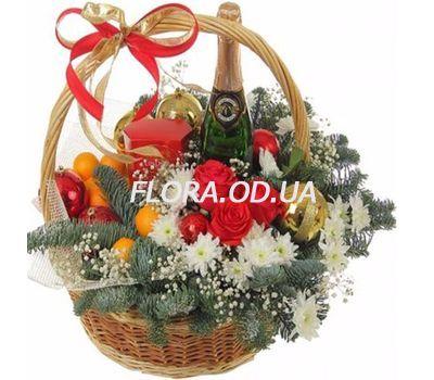 """""""Корзинка под Новый год"""" в интернет-магазине цветов flora.od.ua"""