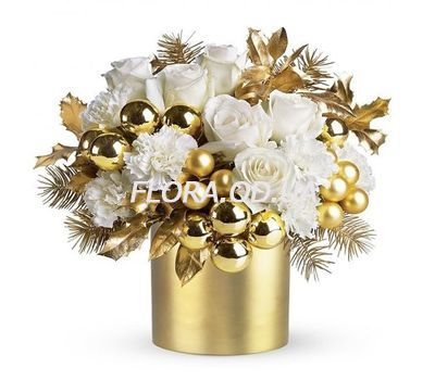 """Beautiful New Years composition"" in the online flower shop flora.od.ua"
