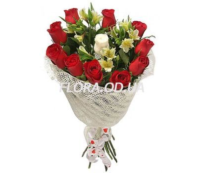 """Creative bouquet of fresh flowers"" in the online flower shop flora.od.ua"
