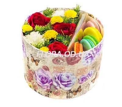"""Macaroni for the New Year"" in the online flower shop flora.od.ua"