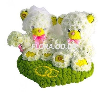 """Bears from flowers"" in the online flower shop flora.od.ua"