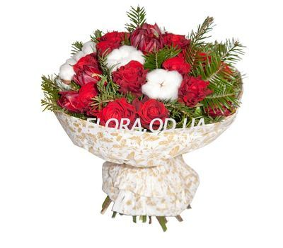 """New Year`s bouquet of roses"" in the online flower shop flora.od.ua"