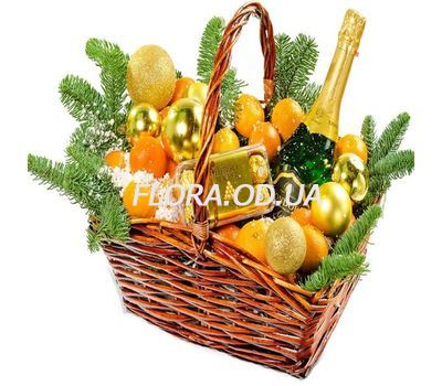 """""""New Years gift in the basket"""" in the online flower shop flora.od.ua"""