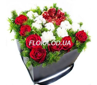 """New Year composition with pomegranate"" in the online flower shop flora.od.ua"