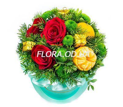 """""""Новогодняя композиция в шляпной коробке"""" в интернет-магазине цветов flora.od.ua"""