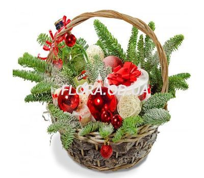 """New Years basket with sweets"" in the online flower shop flora.od.ua"