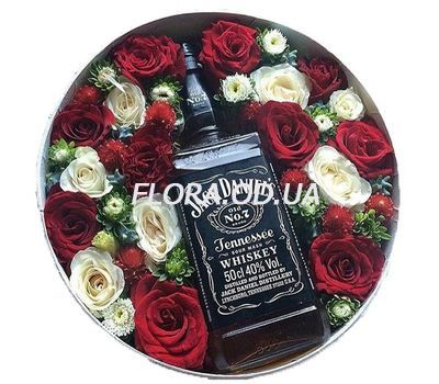 """""""Gift for the man in the box"""" in the online flower shop flora.od.ua"""
