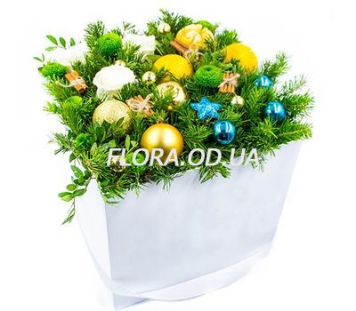 """""""Christmas composition with Christmas toys"""" in the online flower shop flora.od.ua"""