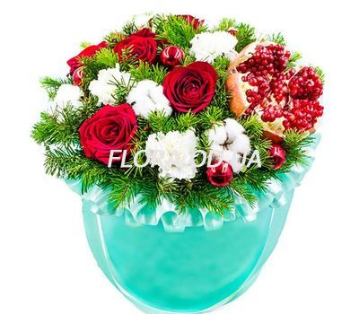 """""""Christmas composition in a box"""" in the online flower shop flora.od.ua"""