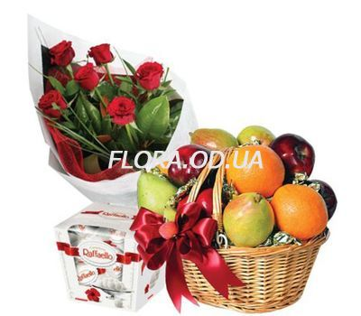 """Roses, fruits, sweets"" in the online flower shop flora.od.ua"