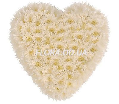 """Heart of 25 Chrysanthemums"" in the online flower shop flora.od.ua"