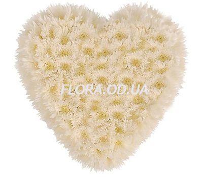 """""""Сердце из 25 хризантем"""" в интернет-магазине цветов flora.od.ua"""