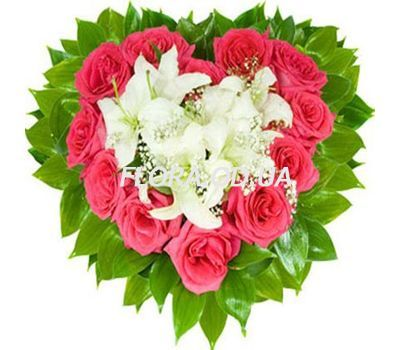 """Heart of flowers"" in the online flower shop flora.od.ua"