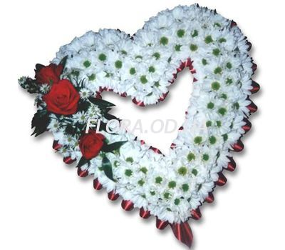 """Heart from chrysanthemums"" in the online flower shop flora.od.ua"