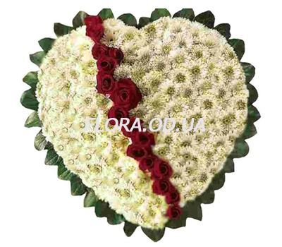 """Heart of chrysanthemums and roses"" in the online flower shop flora.od.ua"