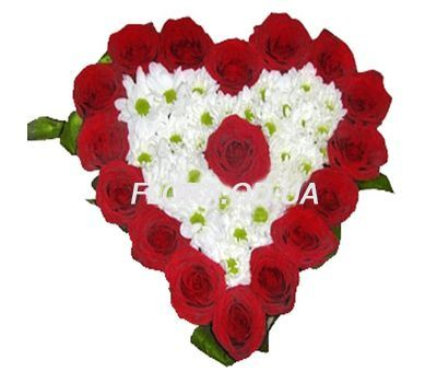 """Heart of roses and chrysanthemums"" in the online flower shop flora.od.ua"