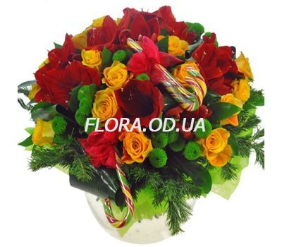 """A chic New Years bouquet"" in the online flower shop flora.od.ua"