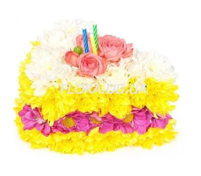 """""""Cake of flowers"""" in the online flower shop flora.od.ua"""