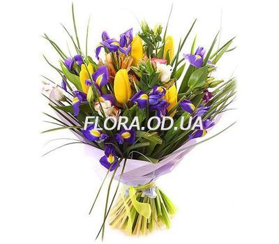 """Spring bouquet of mixes"" in the online flower shop flora.od.ua"