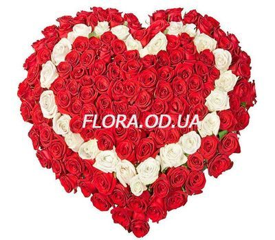 """101 roses heart"" in the online flower shop flora.od.ua"