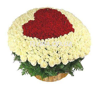 """301 roses in the basket"" in the online flower shop flora.od.ua"