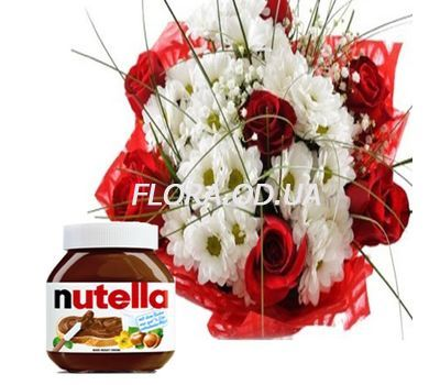 """Bouquet of flowers with Nutella"" in the online flower shop flora.od.ua"