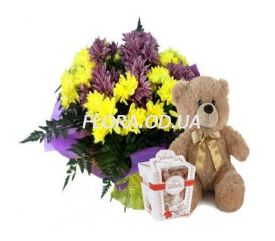 """""""Bouquet of chrysanthemums"""" in the online flower shop flora.od.ua"""