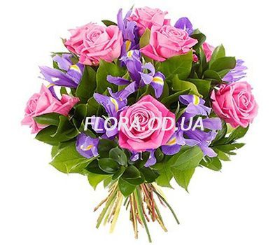 """""""Bouquet of roses and gerberas"""" in the online flower shop flora.od.ua"""